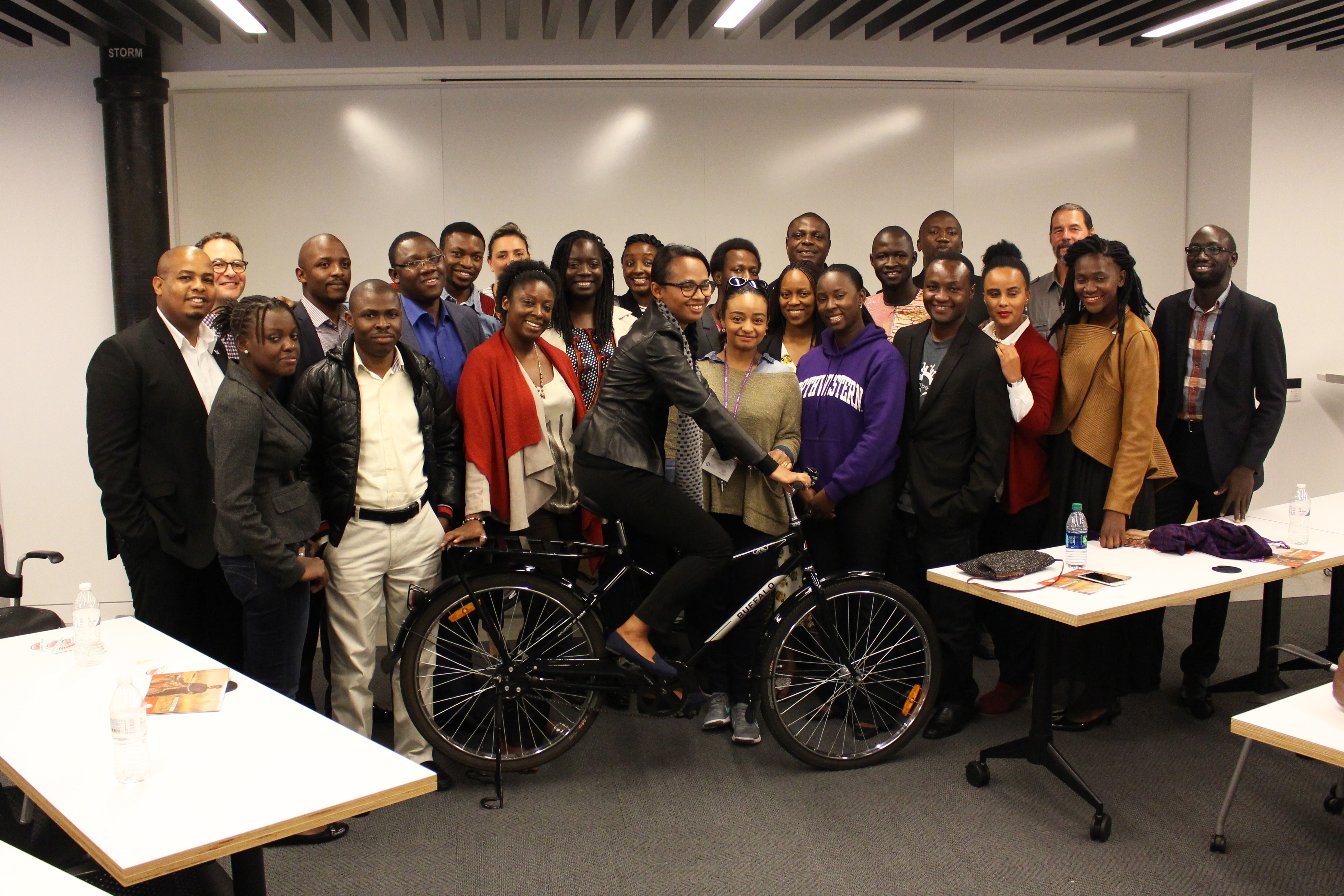 fellows visiting world bicycle relief and SRAM corporation